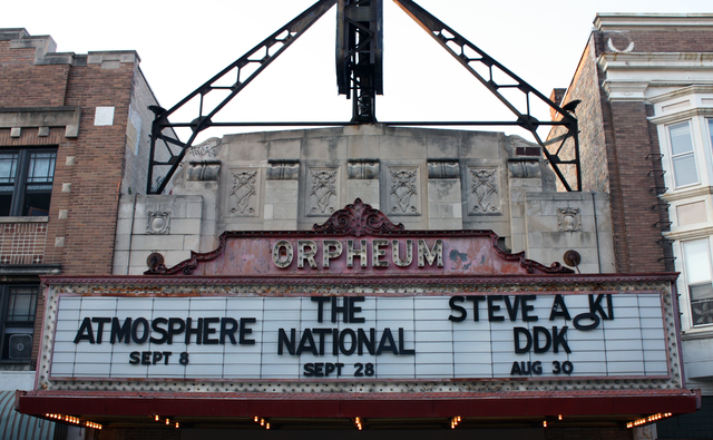 Orpheum Theatre, Madison, WI = marquee
