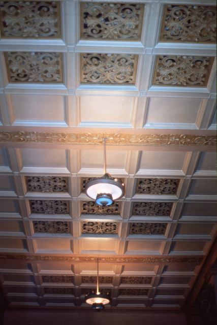 Detail – Back Stalls Ceiling.