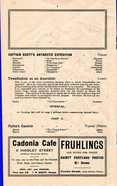 Wondergraph Programme, Page 4.