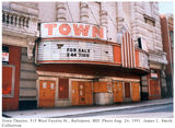 Town Theatre, Baltimore, MD.