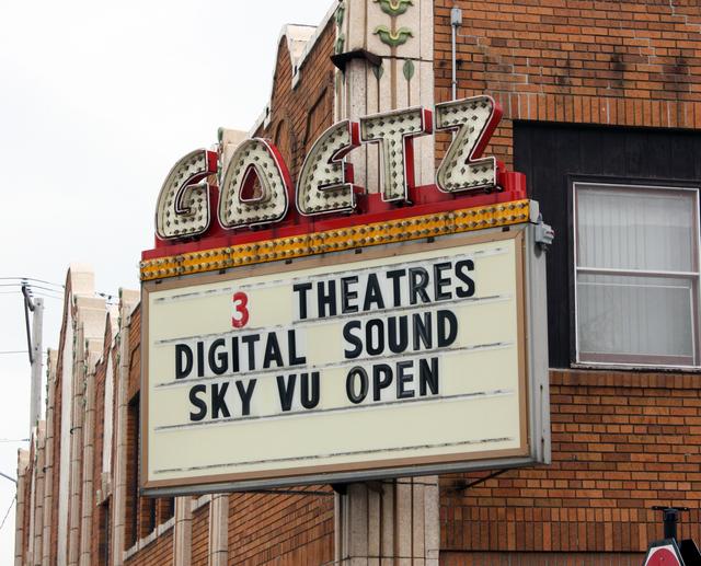 Goetz Theatre, Monroe, WI - sign