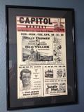 Capitol Hartley Movie Poster Circa 1957