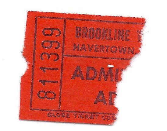 ticket from brookline theatre