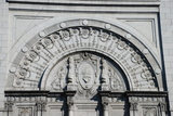 <p>Ornamentation above current main entrance.</p>