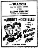 Dalton Theatre opening, May 28, 1948