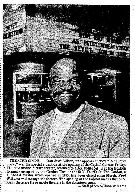 December 27, 1977 reopen of Capitol Cinema