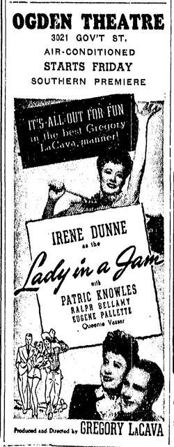 Ogden Theatre ad 1942