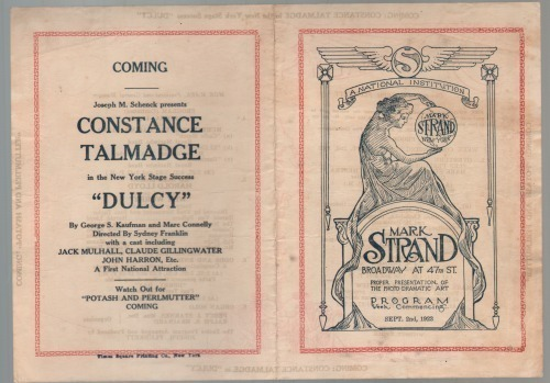 Mark Strand Theatre Program 1923