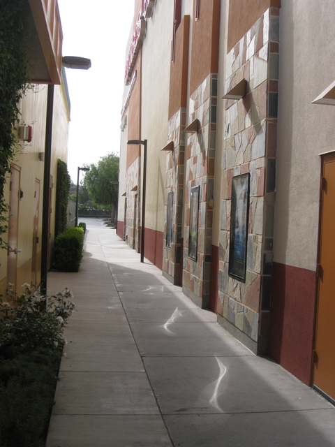 Corridor between the movie theater and Lucille's BBQ