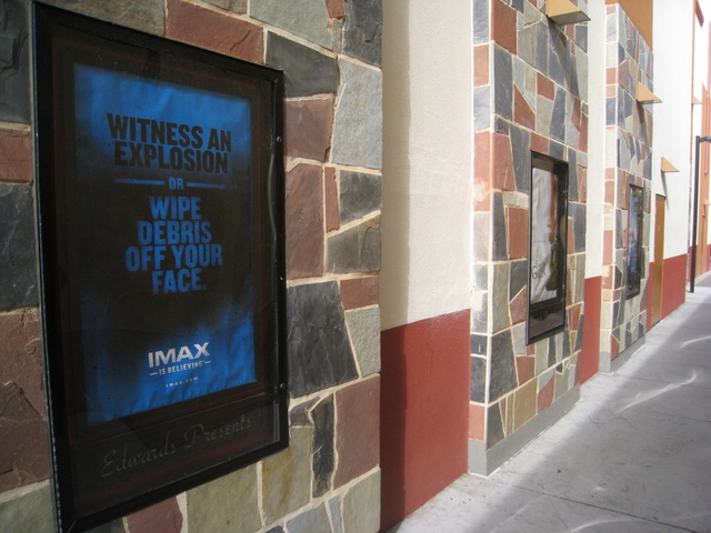 Advertisement for IMAX