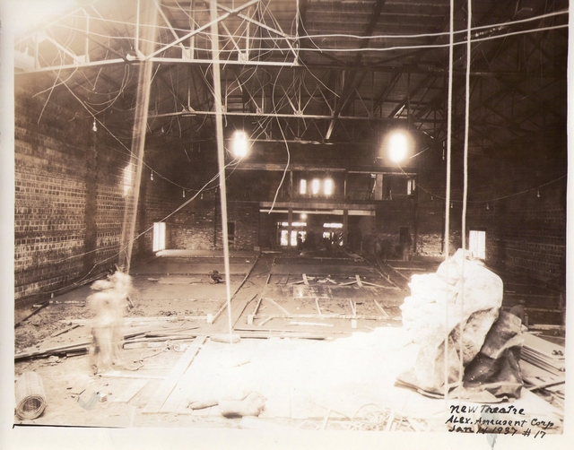 Auditorium of the Reed Theatre Under Construction