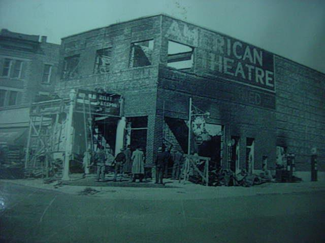 Original American Theater fire 1938