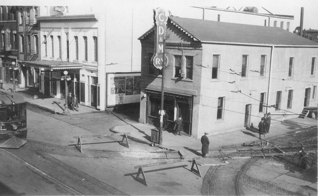 Liberty Theater 1925 (white building)