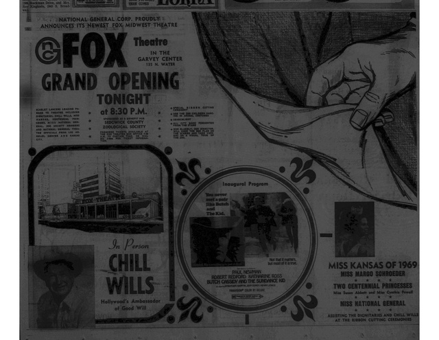 Opening advertisement from the 'Wichita Eagle' October 22, 1969