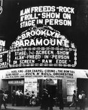 <p>Scene of one of the huge rock & roll shows during the mid 1950s.</p>