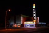 Edna theater with completed neon
