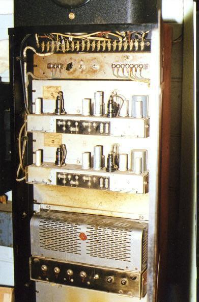 RCA sound system showing the amplifiers
