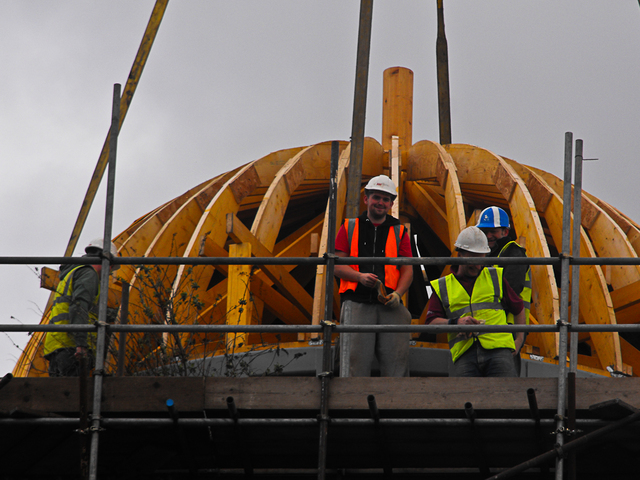 Dome being erected