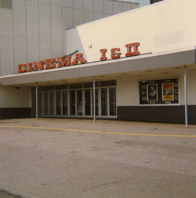 Entrance to the Cinema I &amp; II in 1973