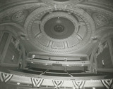 Warner Theatre balcony and dome.