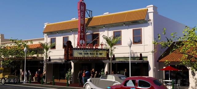 Hemet Theater - Restored Facade