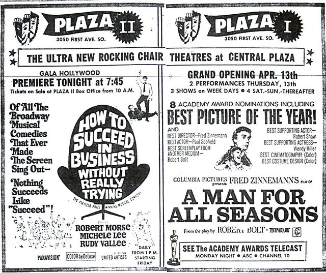Plaza I & II Opening Attractions
