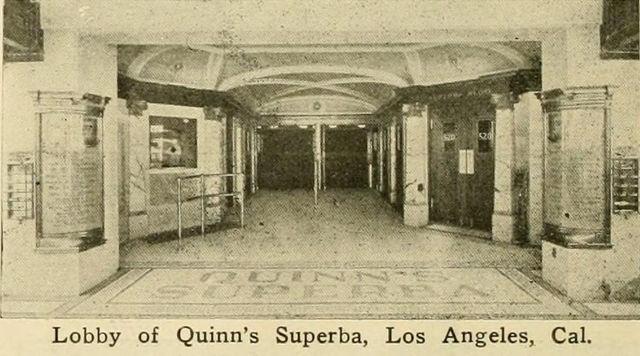 Quinn's Superba Theatre, 1914
