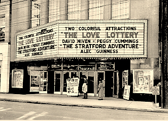 The Odeon's marquee along the Bank St sidewalk