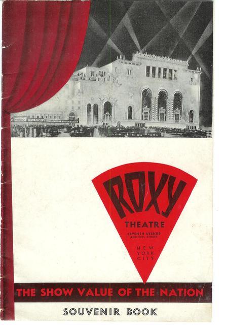 Roxy Theatre souvenir booklet 1930s
