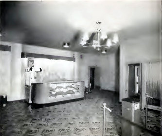 WALWORTH Theatre, Walworth, Wisconsin: concession counter, 1947.