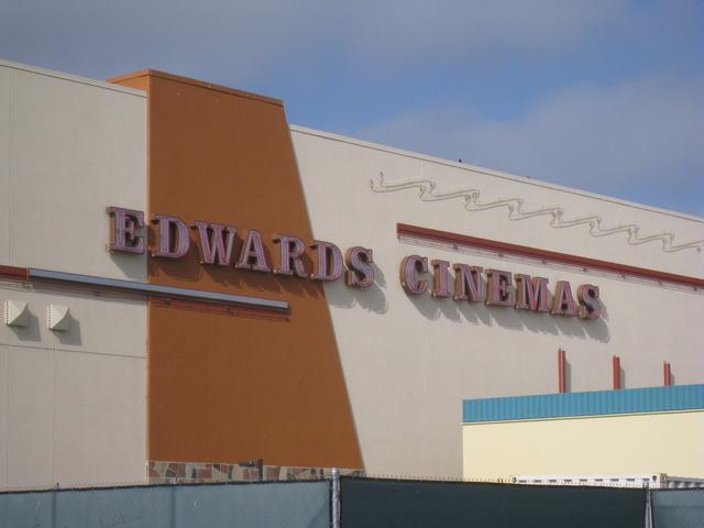 Close up of the Edwards Cinemas Sign