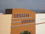 Edwards Cinemas sign close-up from the Parking Structure
