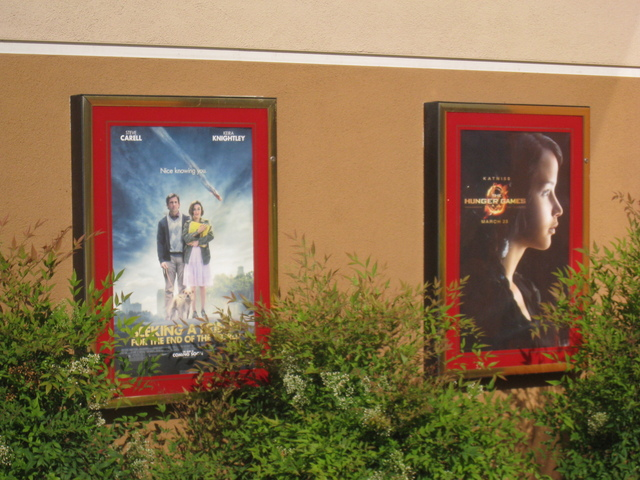 Posters outside of the Ultrastar Tower 10 Theater