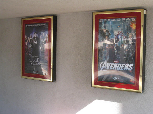 Posters outside the Ultrastar Tower 10 Theater