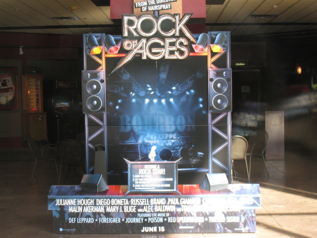 Rock of Ages stand-up display