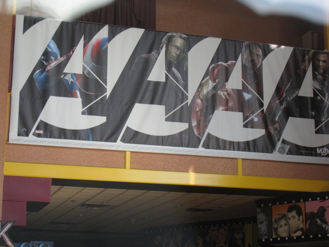 Avengers Wall Banner at Ultrastar Tower 10 Cinemas