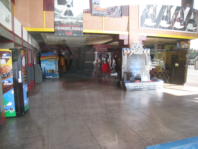Wide shot of main lobby for the Ultrastar Tower 10 theater