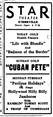 Ad for the Star Theatre,  Jan. 14, 1947.