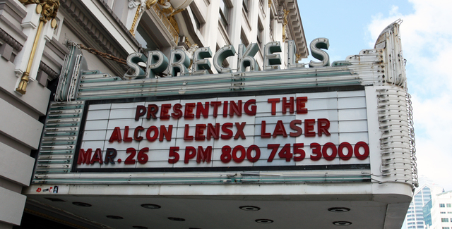 Spreckels Theatre, San Diego, CA - marquee