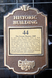 U.S./Dream Theatre, San Diego, CA - historic plaque