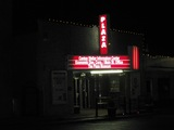 Canton Plaza Theater at night - lighted marquee