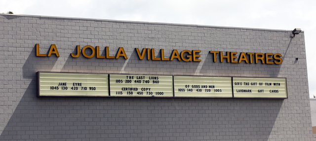 La Jolla Village Cinemas, La Jolla, CA - sign