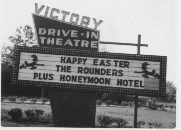 Victory Drive-In sign 1