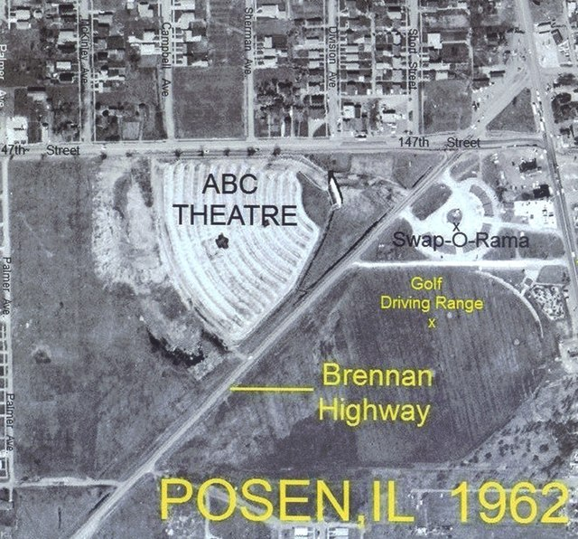 Aerial view of ABC Theatre in 1962.