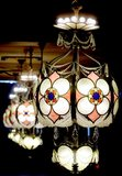 GATEWAY (Lake, Rhode) Theatre lobby: Pearlman chandelier.