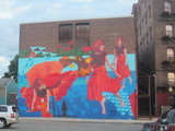 Mural on the rear of the Mohawk stagehouse