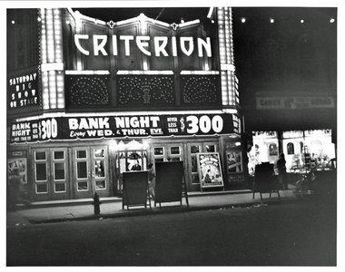 Evening view of Criterion Theater, Bridgeton NJ.