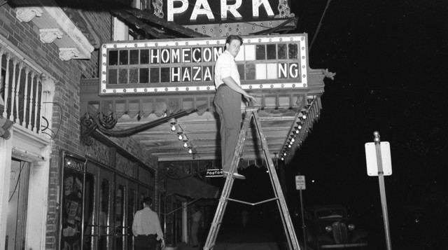 Oak Park Theatre marquee