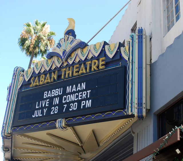 Saban Theatre Marquee