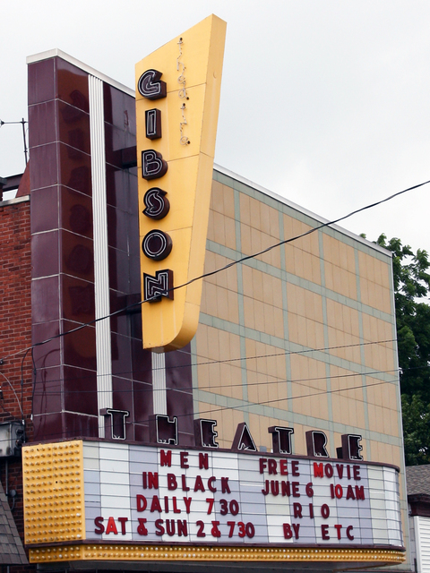 Gibson Theatre, Batesville, IN - marquee